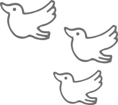 Birds (3 pigeons)