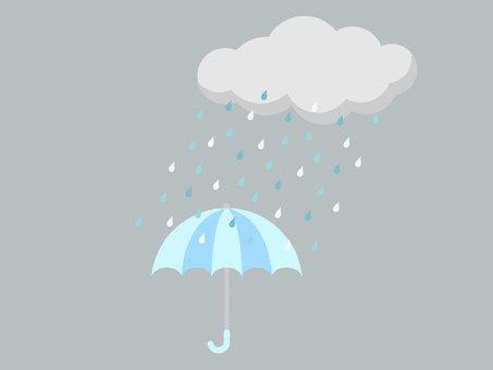 Rainy season / rainy illustration 04