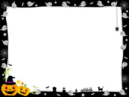 Halloween frame ghost