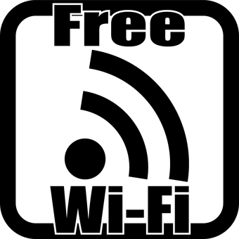 Free Wi-Fi black