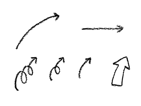 Arrow (crayon) monochrome
