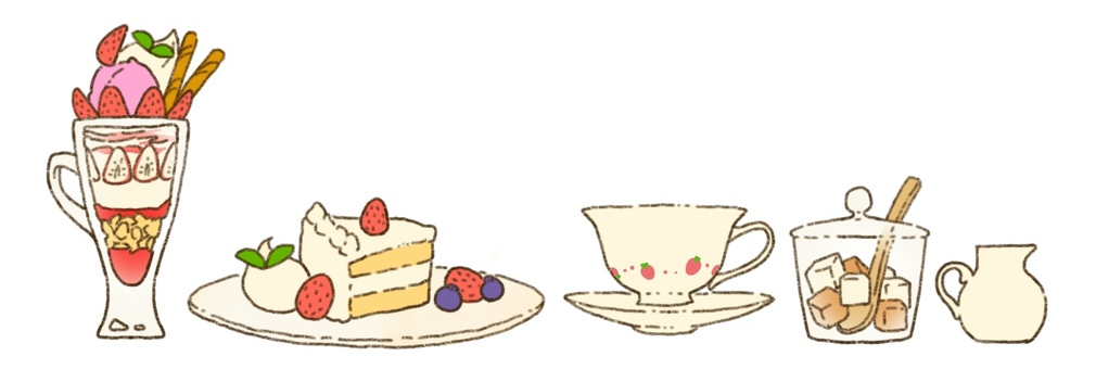 Strawberry sweets set