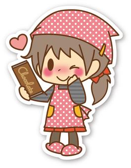 【Seal】 Girls * making chocolate