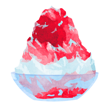 Shaved ice (strawberry) ② Watercolor