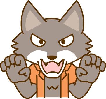 Threatening wolf man