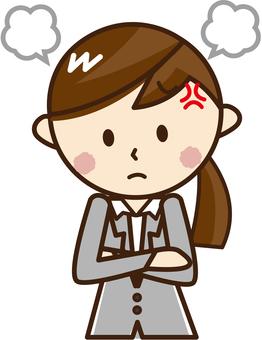 An angry woman _H 07