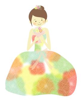Coloring dress