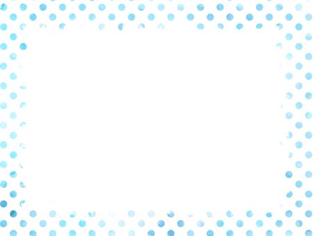 Watercolor dot frame 2 light blue
