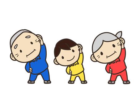 Gymnastics (grandparents and grandchildren