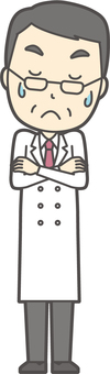 Middle-aged male physician -024 - full body