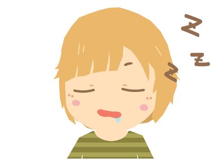 A woman who falls asleep and sleeps