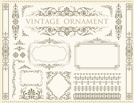 Vintage ornament set 84