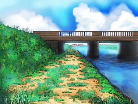 Summer bridge Shimogawa