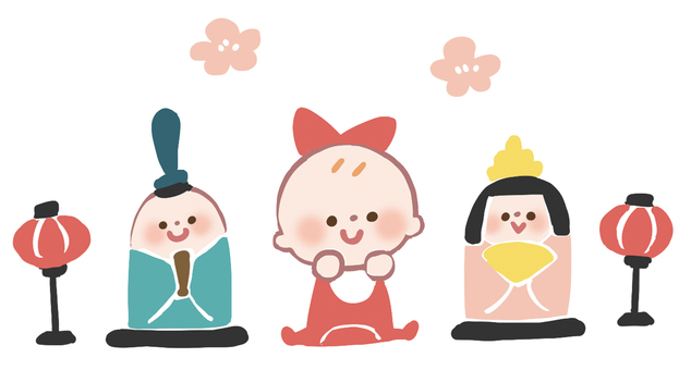 【Transparent PNG】 Hinamatsuri Baby