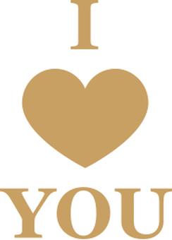I LOVE YOU Heart character