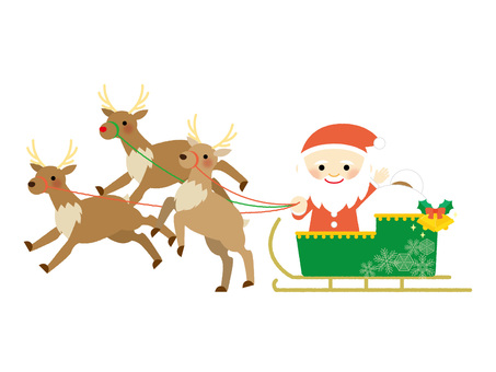 Santa riding a sled