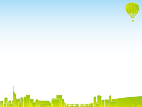 도시와 풍선