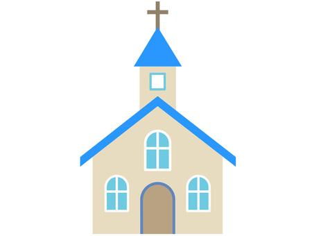 60128. Church, Blue