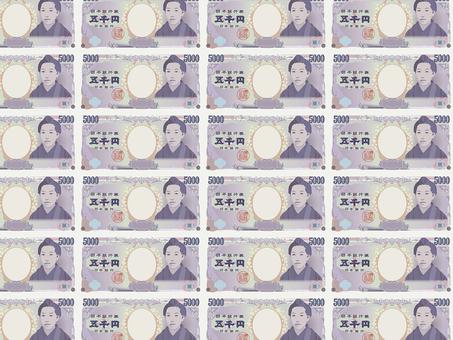 Pattern of 5,000 yen bill