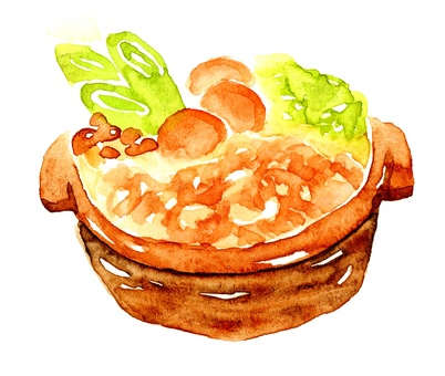Chanko Nabe watercolor