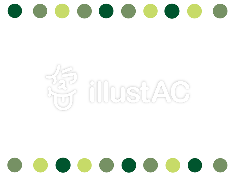 Free Cliparts : Polka dot frame simple Tiny - 775935 | illustAC