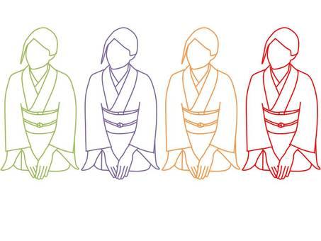 About three fingers kimono women