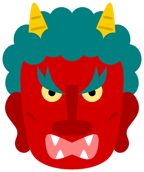 Face of the red demon