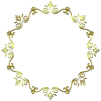 Round frame of gold