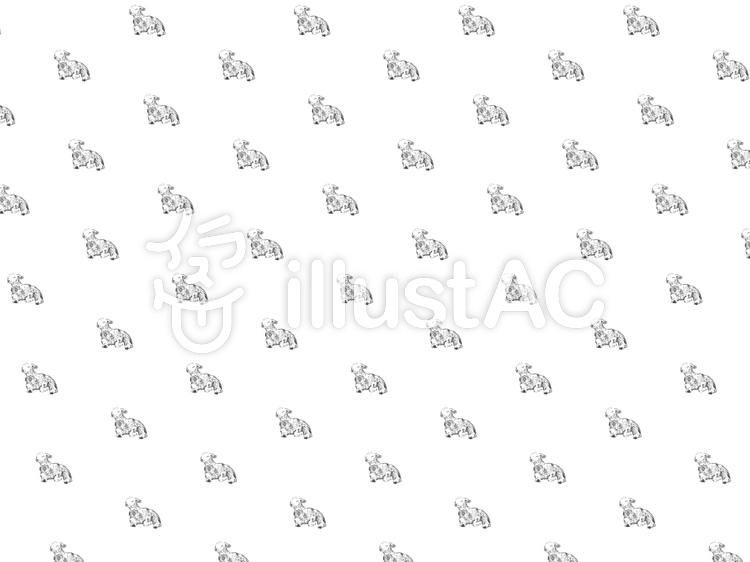おしゃれ子羊のパターン壁紙のイラスト