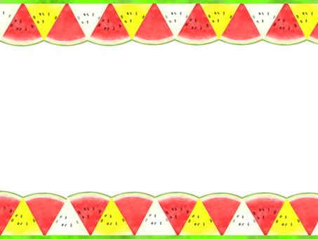 Watermelon frame (red · yellow · white)