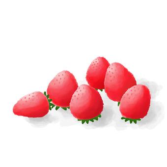 Strawberry watercolor picture
