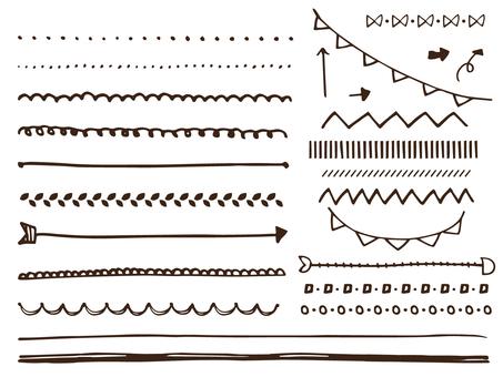 手書きのラインシンプル