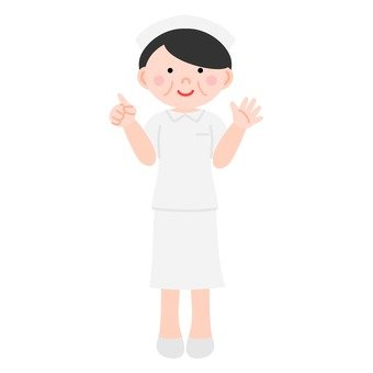 Nurse (pointing at a finger)