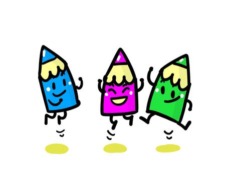 점프 ~ 사이 좋은 색깔 연필들