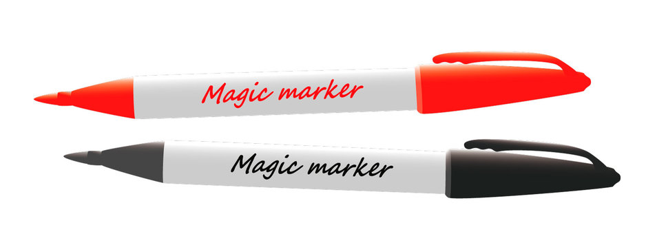 Magic pen (red and black)