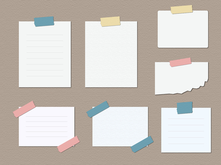 Notes (masking tape) 1