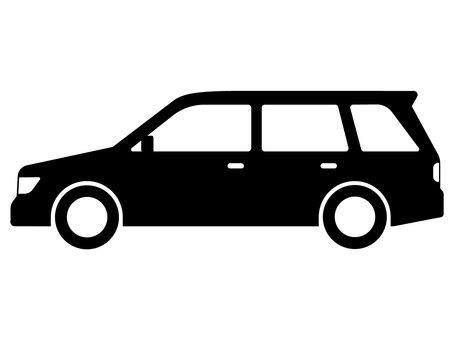 Car station wagon silhouette