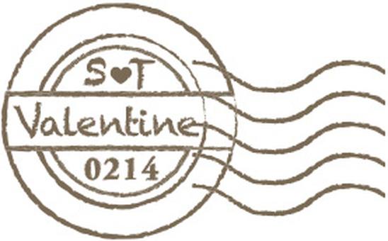 Valentine postmark title