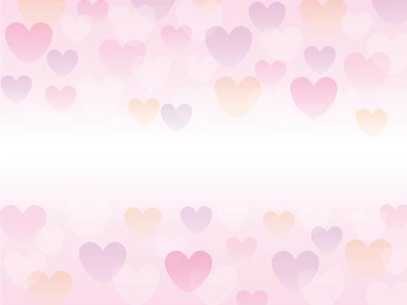 Background - pastel color heart