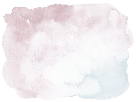 水彩画の背景-梅鼠青藤