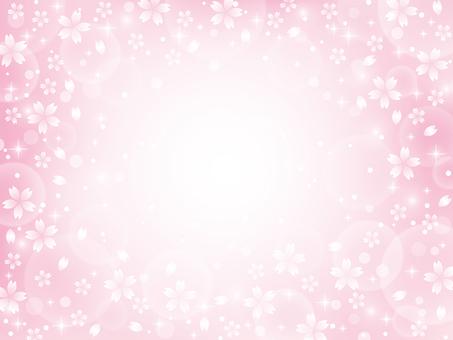 桜のキラキラ背景素材