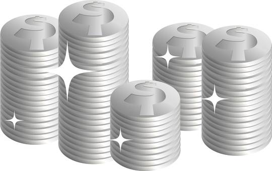 Stacked coin silver