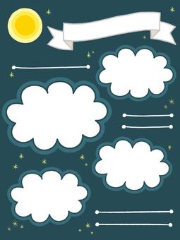月亮和星空傳單背景_垂直