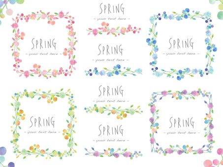 Flower frame set ver 05