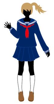 Sailor clothes waving hands