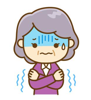 Senior women who feel cold