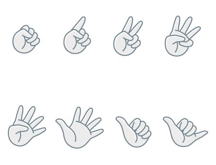 손가락 가위 바위 보 2