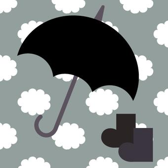 傘(多雲的天空)
