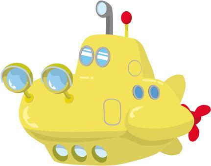 Yellow submarine without background