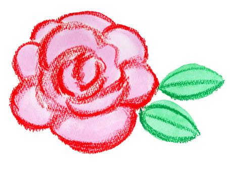 수공 장미 꽃